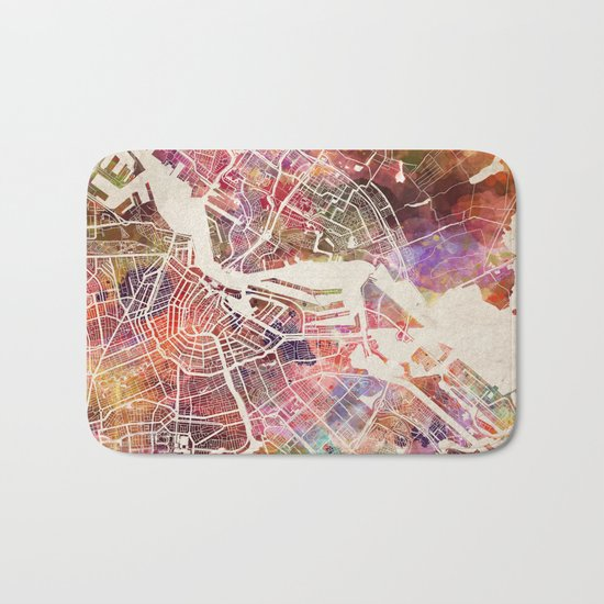 Amsterdam map Bath Mat