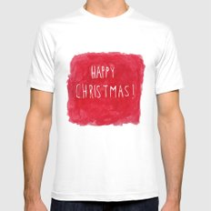 Happy Christmas! Mens Fitted Tee MEDIUM White