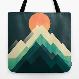 Ablaze on cold mountain Tote Bag