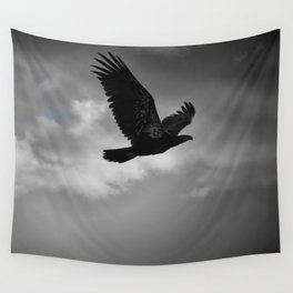 Young Bald Eagle Wall Tapestry