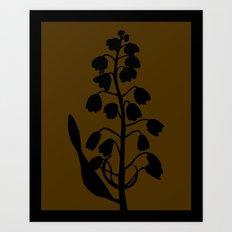 Fritillary in Lavender Blue - Original Floral Botanical Papercut Design Art Print