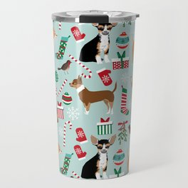 Chihuahua christmas best gifts for chihuahua owners dog pet portraits pet friendly Travel Mug