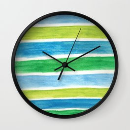 Sea Stripes Wall Clock