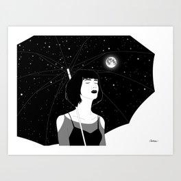 Under The Night Sky Art Print