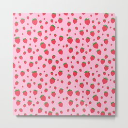 Whimsical strawberry pattern Metal Print