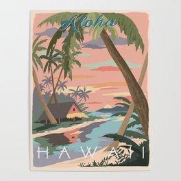Aloha Hawaii Travel Poster Poster