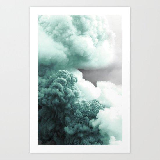 Sea Foam Explosion Art Print