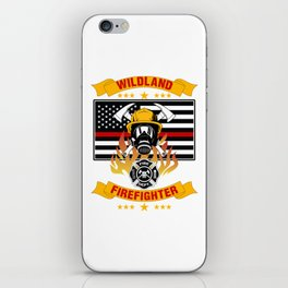 Wildland Firefighter Hero Thin Red Line Smokejumper Gift iPhone Skin