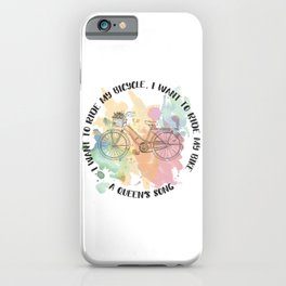 Ride my bicycle iPhone Case