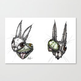 Masks : : Creeptober/Inktober 2018 Canvas Print