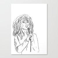 blondie Canvas Prints featuring Blondie by PintoQuiff