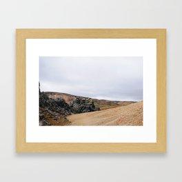 Icelandic contrast Framed Art Print