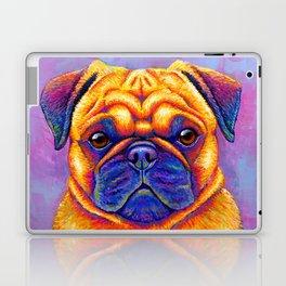 Colorful Rainbow Pug Portrait Laptop & iPad Skin