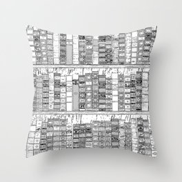 The Library II Throw Pillow