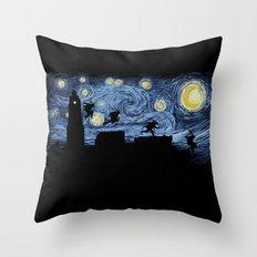 Starry Fight Throw Pillow