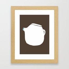 Grey Pot Framed Art Print