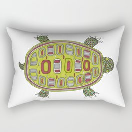 Tiled turtle Rectangular Pillow