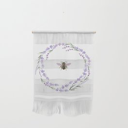 Lavender Bee Wall Hanging