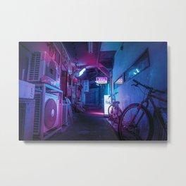 Tokyo Nights / Blue Monday / Liam Wong Metal Print