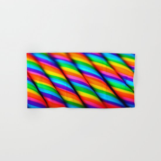 Rainbow Candy : Candy Canes Hand & Bath Towel