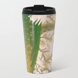 Peacocks and Cherry Tree Travel Mug