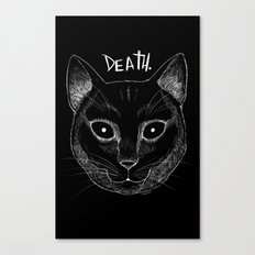 DEATH. (Black) Canvas Print