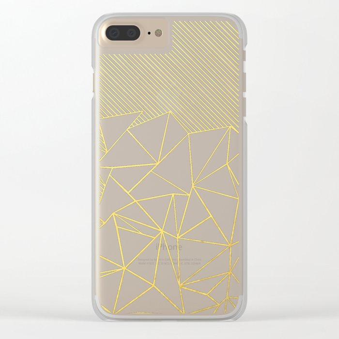 Ab Lines 45 Navy and Gold Clear iPhone Case