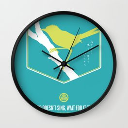 If A Bird Doesn't Sing Series 3 of 3 Wall Clock