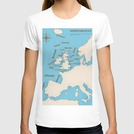 meteorological Shipping forecast. T-shirt