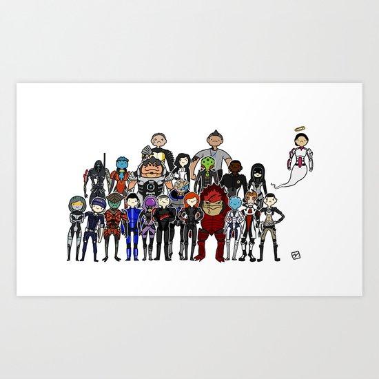 Mass Effect Gang Art Print