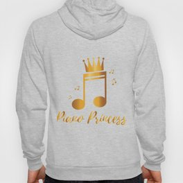 Piano Princess Music Gift Kids Girls Women Hoody