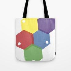 Farbbienenstock Tote Bag