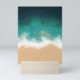 OverHead Beach Mini Art Print
