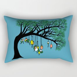Buoy Tree by Seasons K Designs for Salty Raven Rectangular Pillow