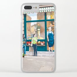 Market and Mural Merge Clear iPhone Case