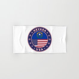 Nevada, USA States, Nevada t-shirt, Nevada sticker, circle Hand & Bath Towel