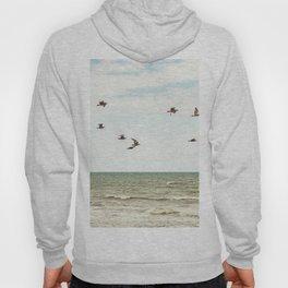 BIRDS - OCEAN - WAVES - SEA - PHOTOGRAPHY Hoody