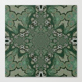 The Green Unsharp Mandala 8 Canvas Print