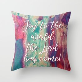 Joy to the World #painting #Christmas Throw Pillow