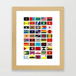 SH as flags Framed Art Print