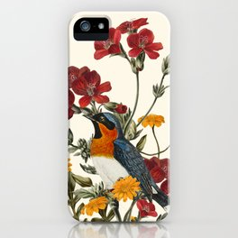 Little Bird and Flowers iPhone Case