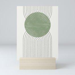 Green Moon Shape Mini Art Print