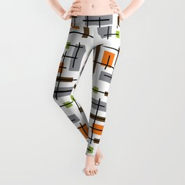 Mid Century Modern Geometric Pattern Leggings