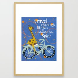 Travel Through Life Framed Art Print