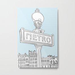 Paris Metro Metal Print
