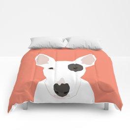 Bull Terrier cute puppy dog art print pet gift pets dog breed animal children kids illustration  Comforters