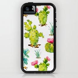 Green Cactus Watercolor iPhone Case
