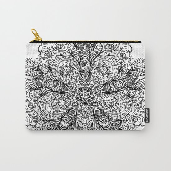 B&W Indian Mandala Carry-All Pouch