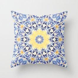 Deep States (Mandala) Throw Pillow