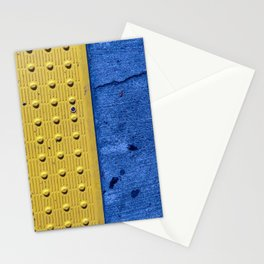 Street art yellow and blue Stationery Cards